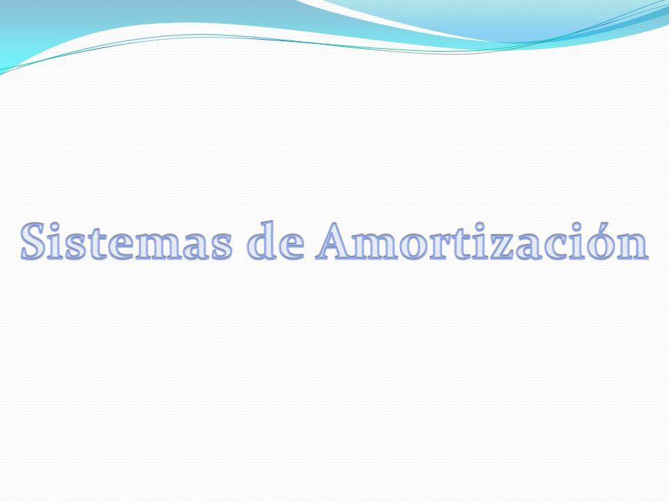Sistemas de Amortización