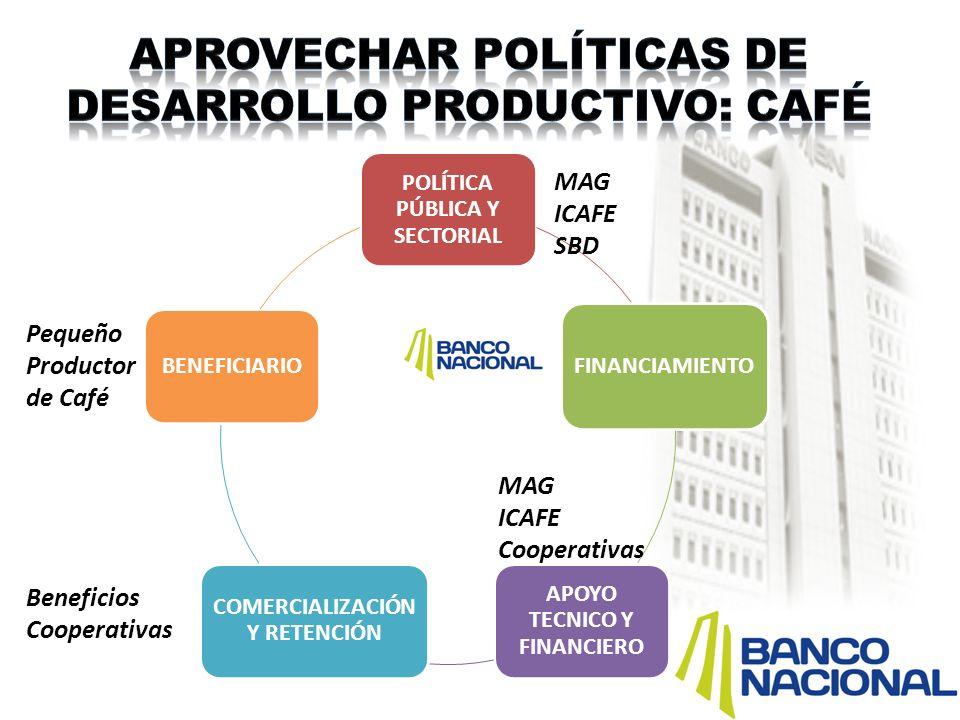 Aprovechar políticas de desarrollo productivo: café