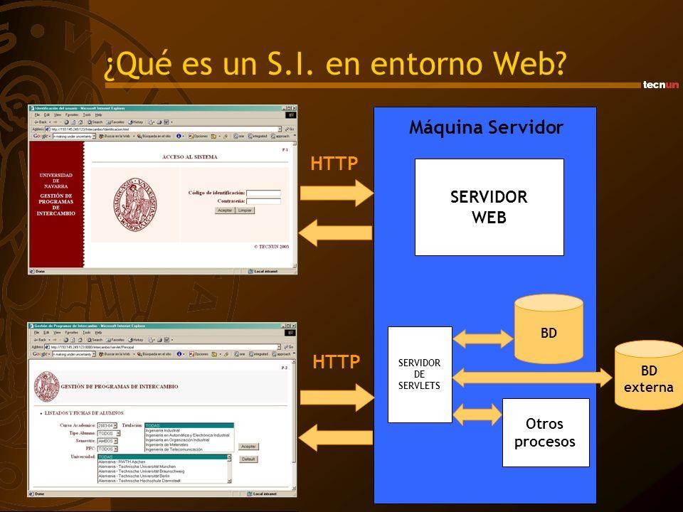¿Qué es un S.I. en entorno Web