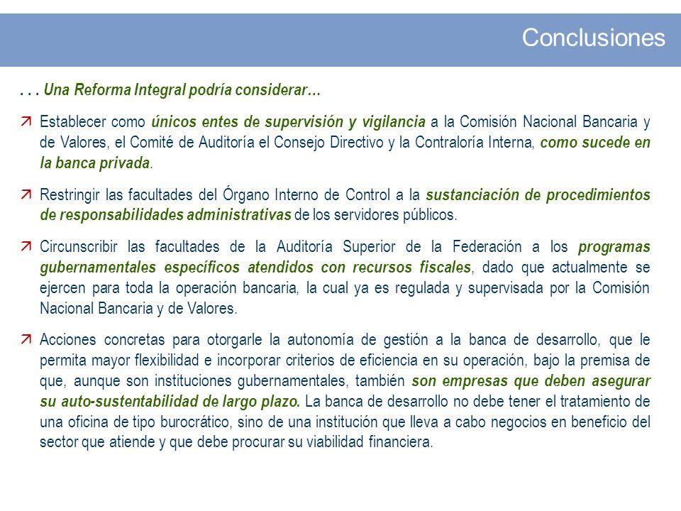 Conclusiones . . . Una Reforma Integral podría considerar…