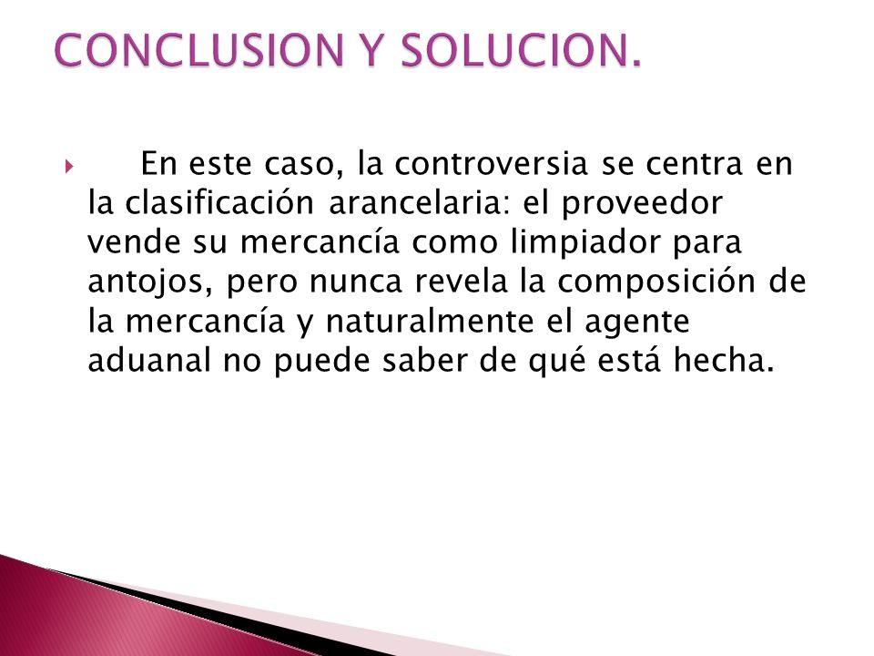 CONCLUSION Y SOLUCION.