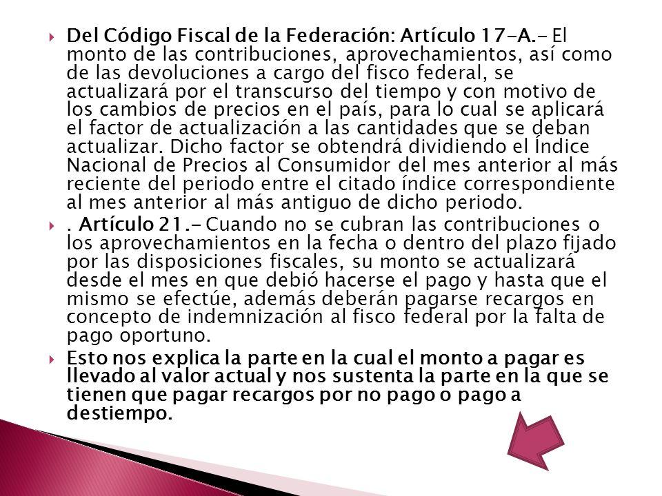 Del Código Fiscal de la Federación: Artículo 17-A