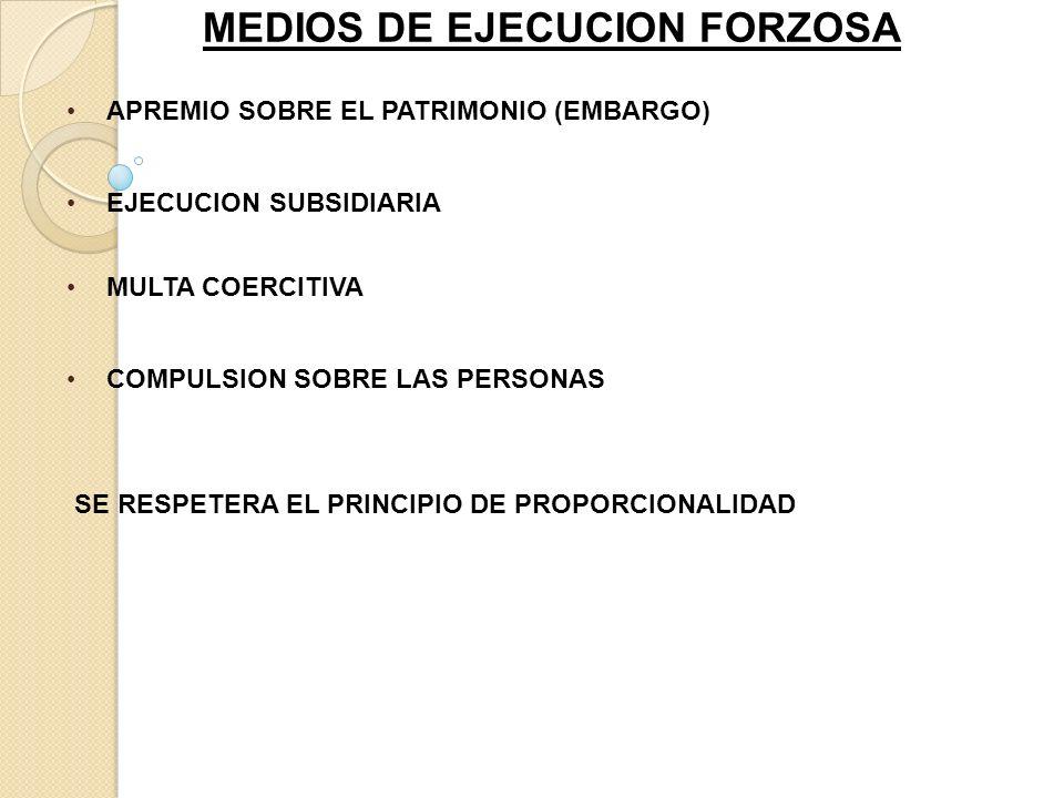 MEDIOS DE EJECUCION FORZOSA