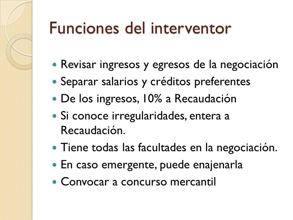 Funciones del interventor