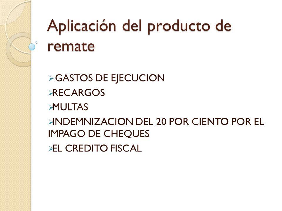 Aplicación del producto de remate