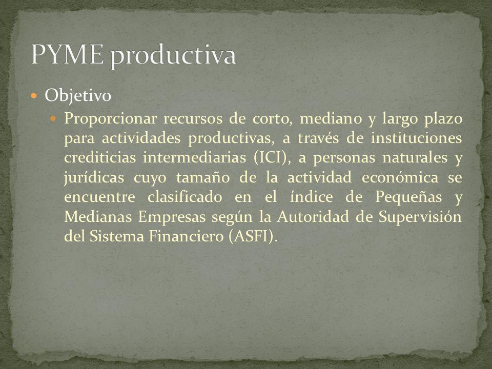 PYME productiva Objetivo