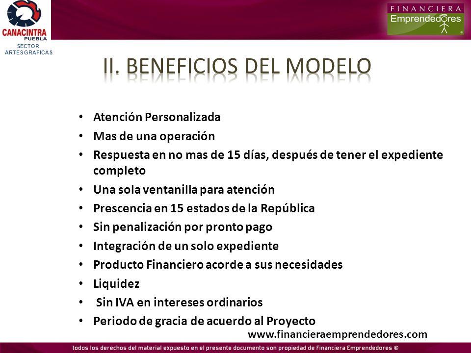 ii. BENEFICIOS DEL MODELO