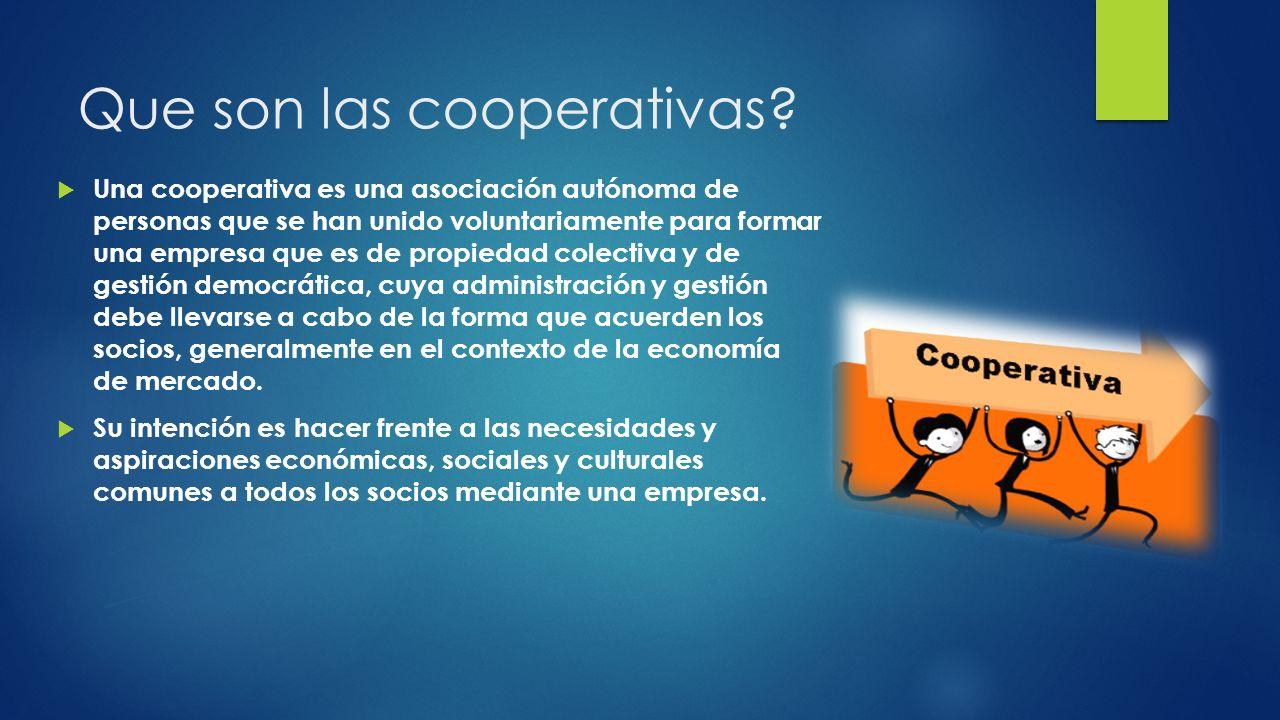 Que son las cooperativas