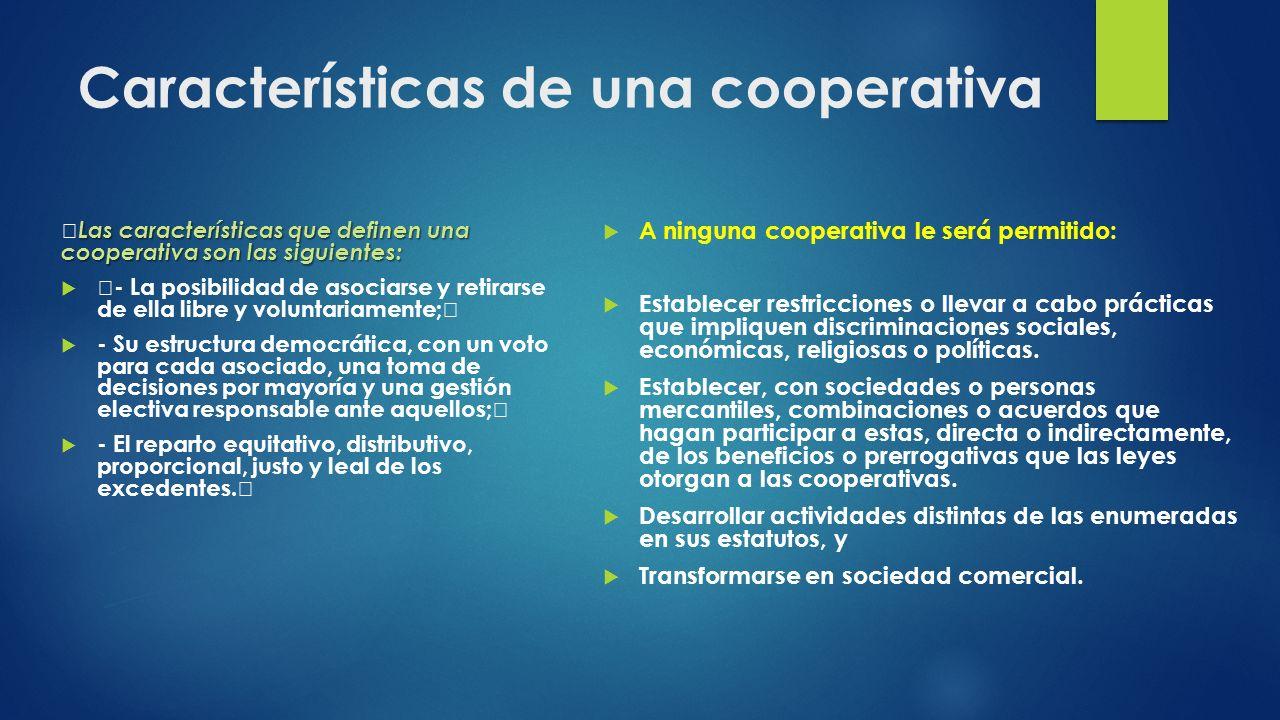 Características de una cooperativa