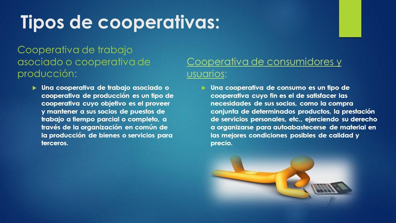 Tipos de cooperativas: