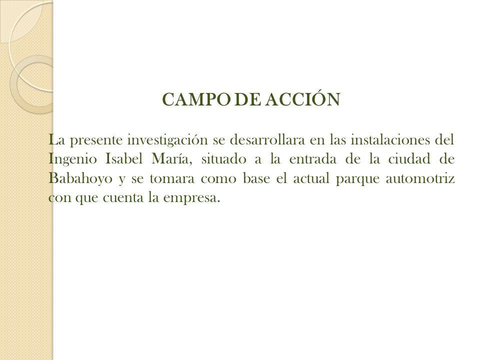 CAMPO DE ACCIÓN