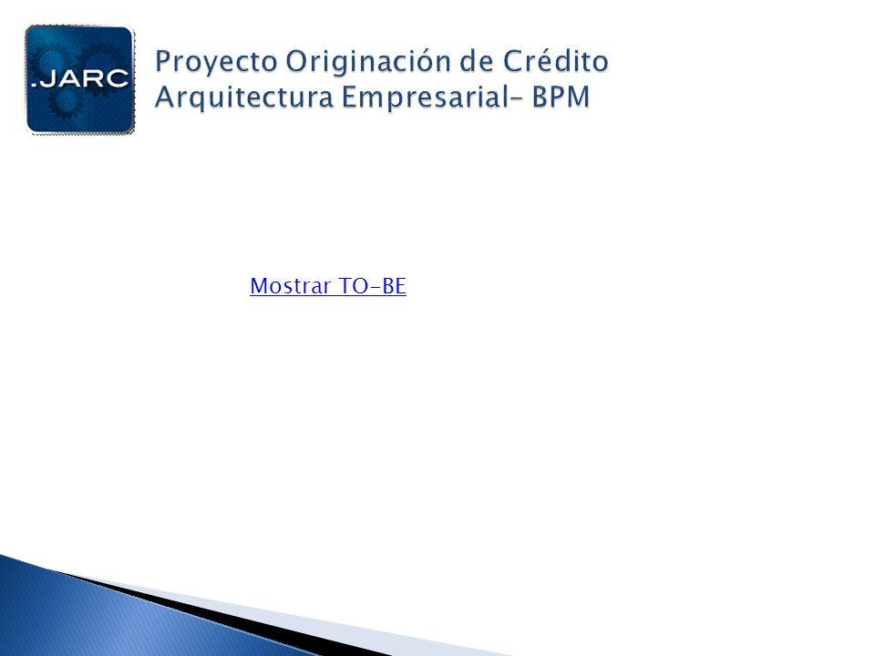 Proyecto Originación de Crédito Arquitectura Empresarial– BPM
