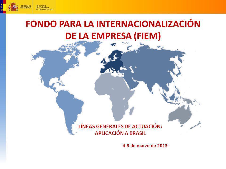 FONDO PARA LA INTERNACIONALIZACIÓN DE LA EMPRESA (FIEM)