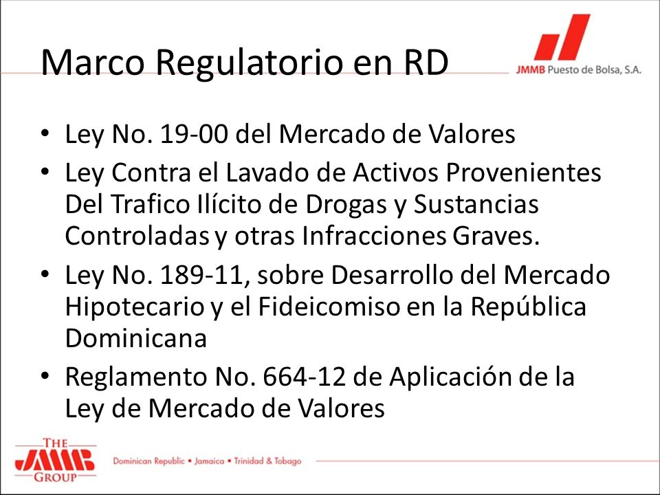 Marco Regulatorio en RD