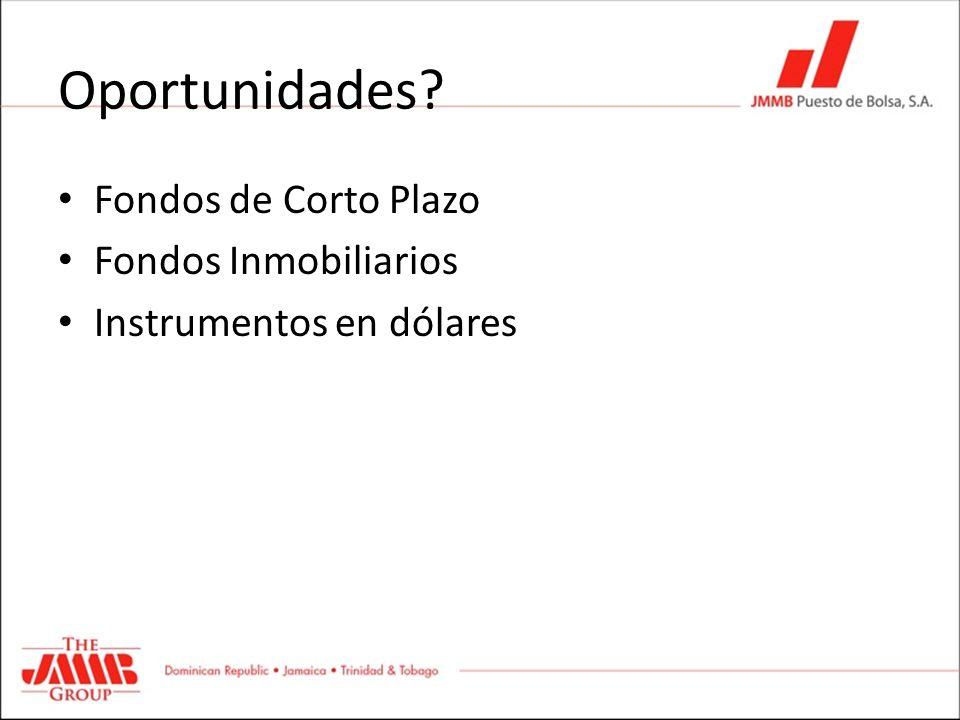 Oportunidades Fondos de Corto Plazo Fondos Inmobiliarios