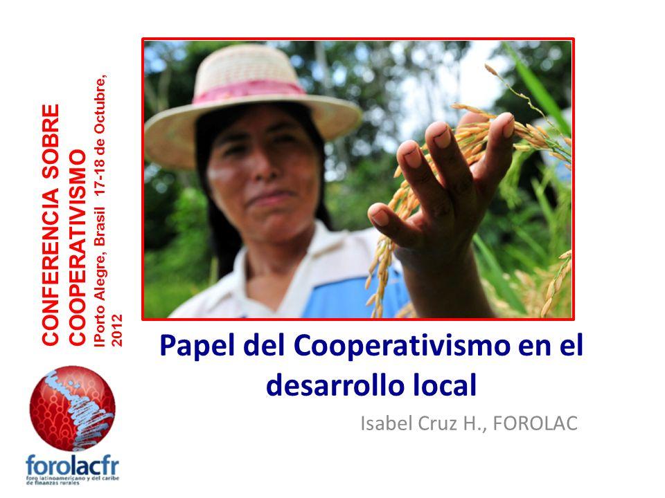 Papel del Cooperativismo en el desarrollo local