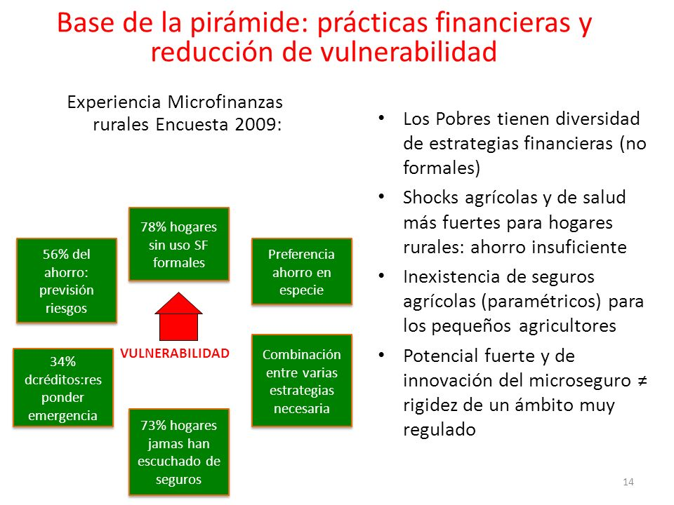 Base de la pirámide: prácticas financieras y reducción de vulnerabilidad