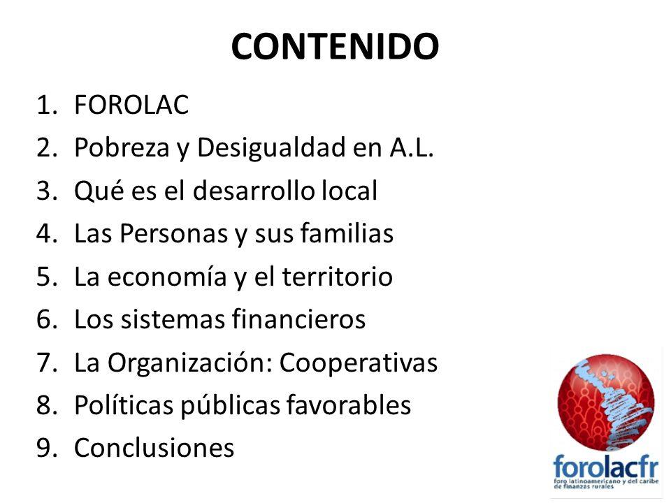 CONTENIDO FOROLAC Pobreza y Desigualdad en A.L.
