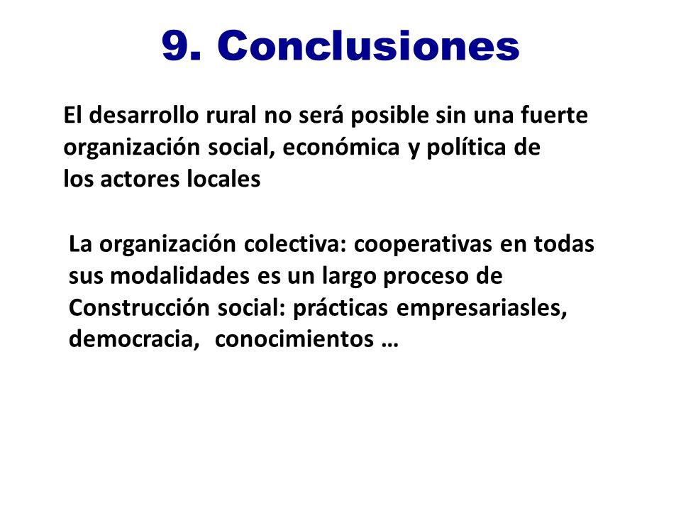 9. Conclusiones El desarrollo rural no será posible sin una fuerte