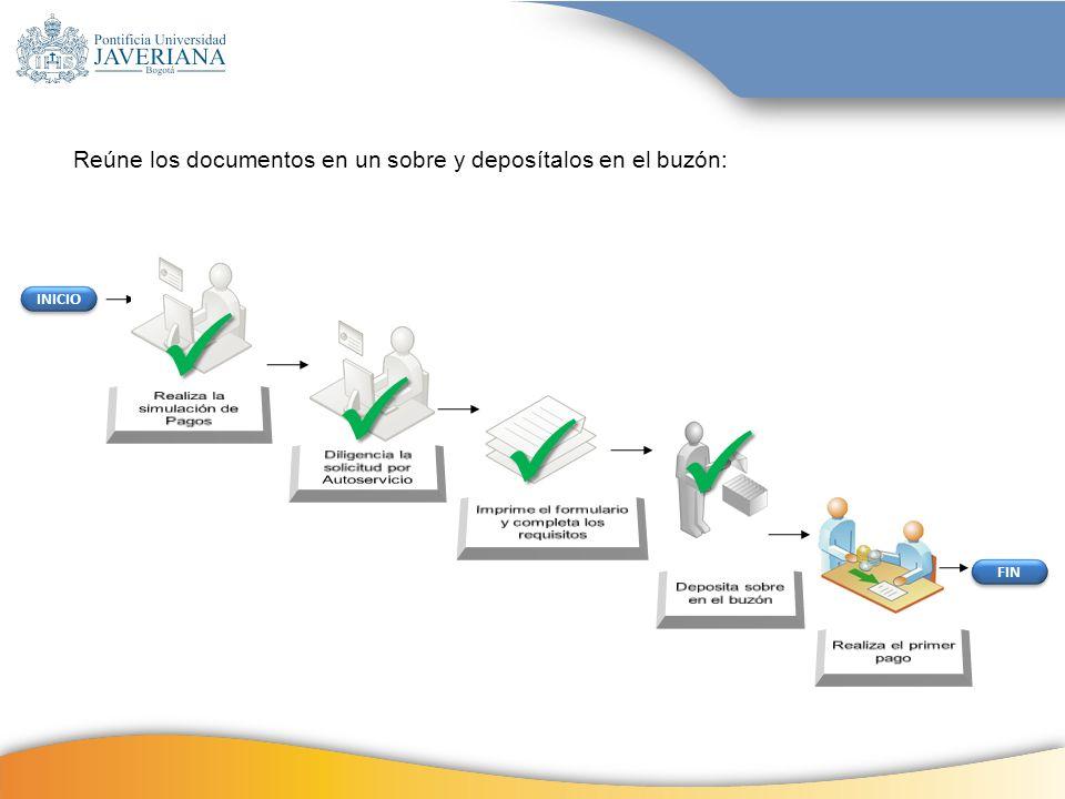     Reúne los documentos en un sobre y deposítalos en el buzón: 18