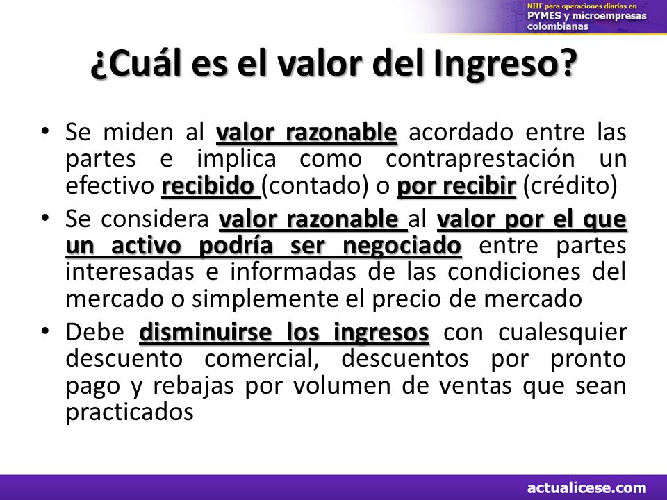¿Cuál es el valor del Ingreso