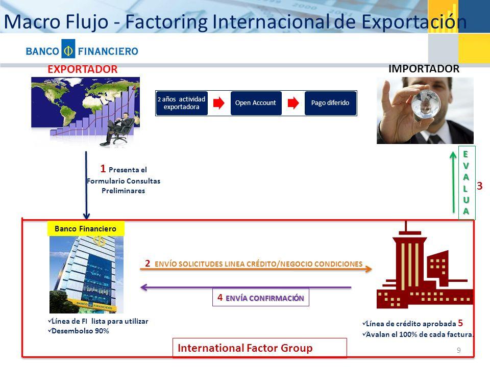 Macro Flujo - Factoring Internacional de Exportación