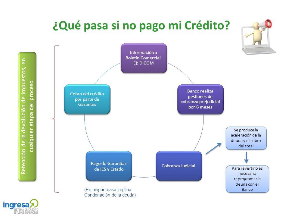 ¿Qué pasa si no pago mi Crédito