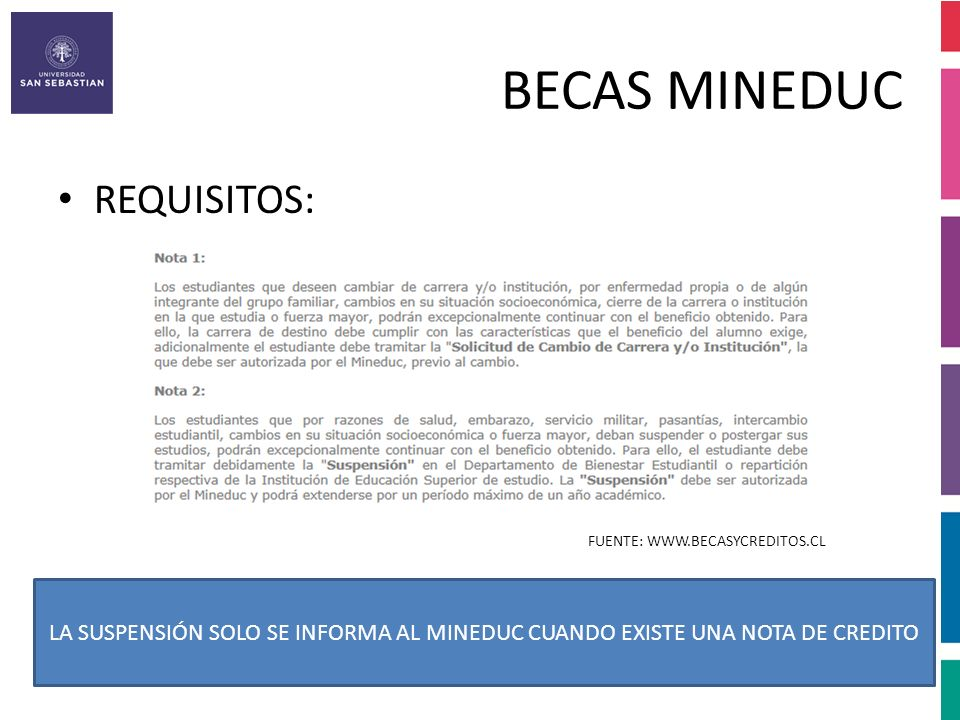 BECAS MINEDUC REQUISITOS: