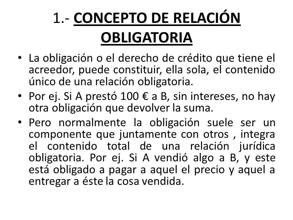 1.- CONCEPTO DE RELACIÓN OBLIGATORIA