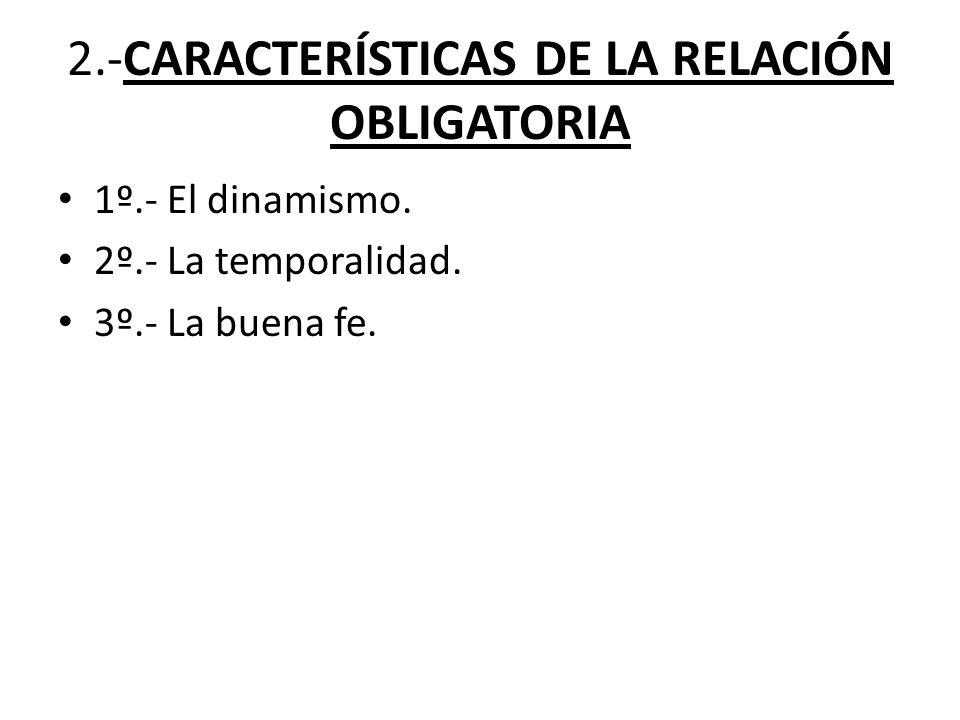 2.-CARACTERÍSTICAS DE LA RELACIÓN OBLIGATORIA