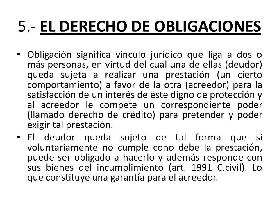 5.- EL DERECHO DE OBLIGACIONES