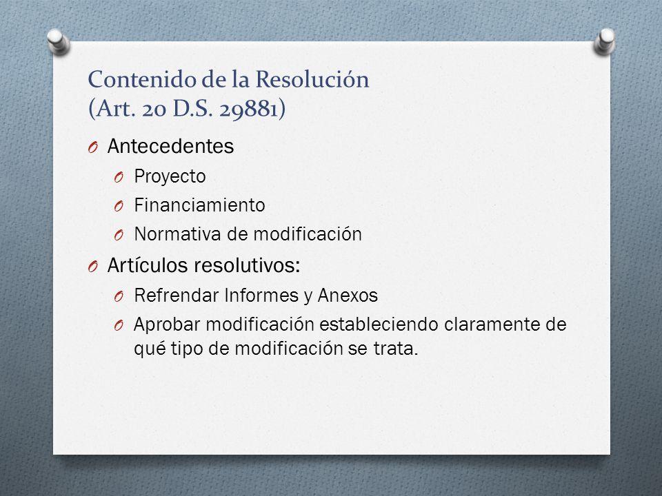 Contenido de la Resolución (Art. 20 D.S. 29881)