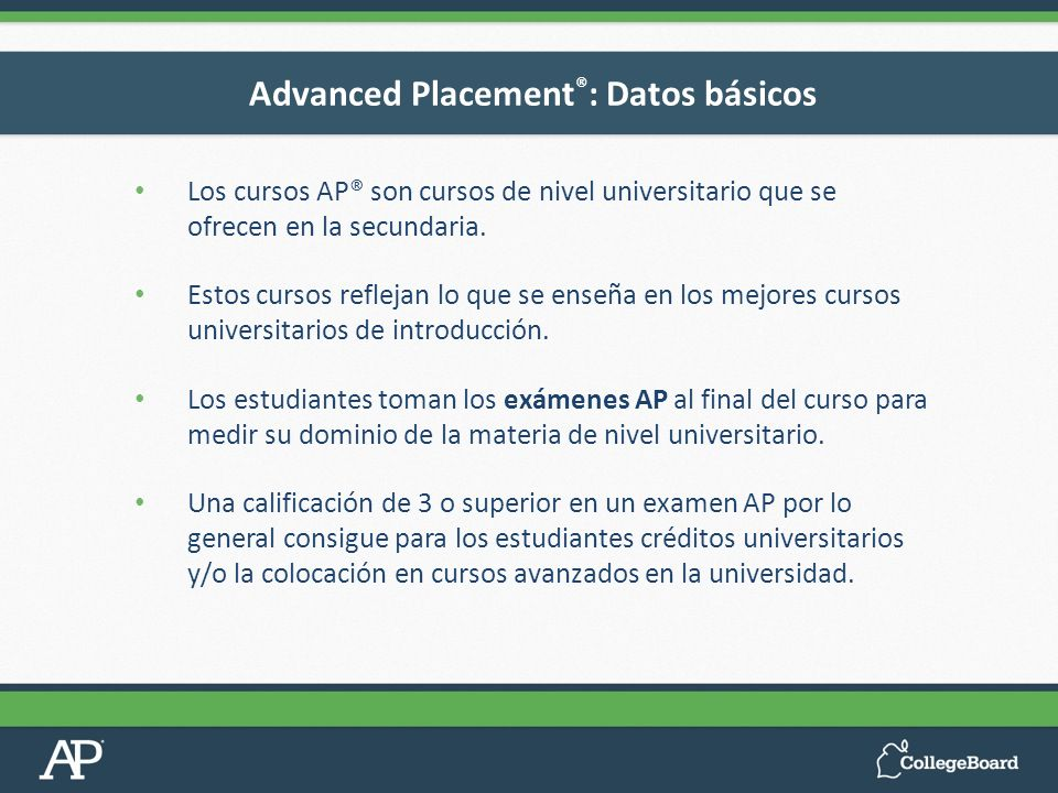 Advanced Placement®: Datos básicos
