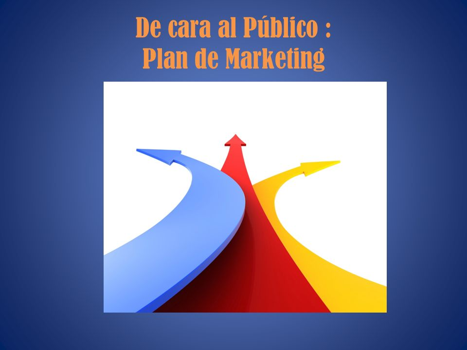 De cara al Público : Plan de Marketing
