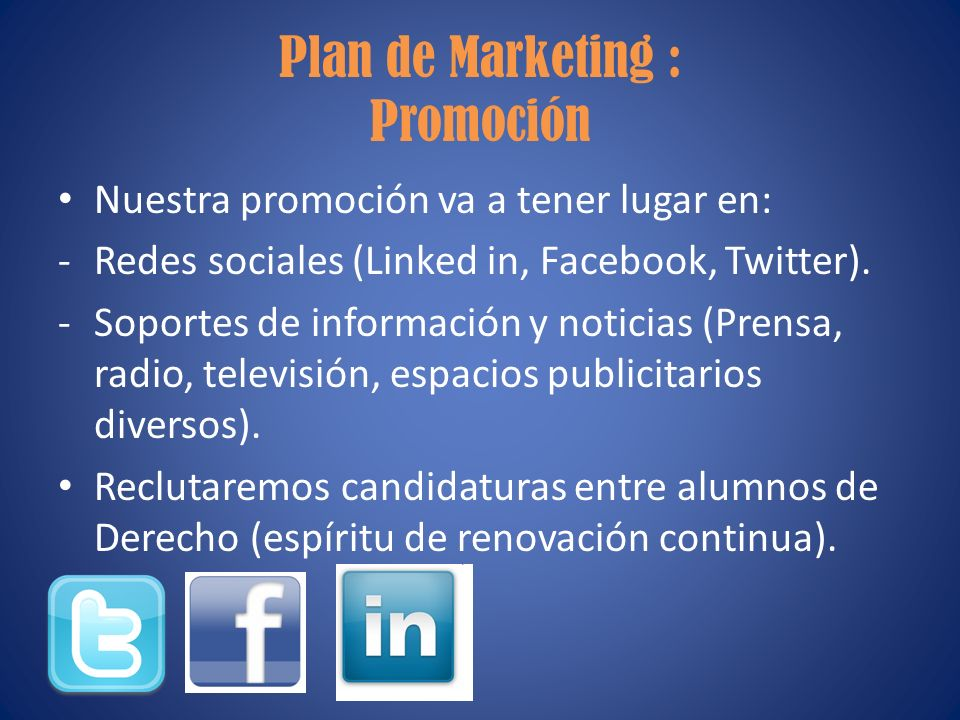 Plan de Marketing : Promoción