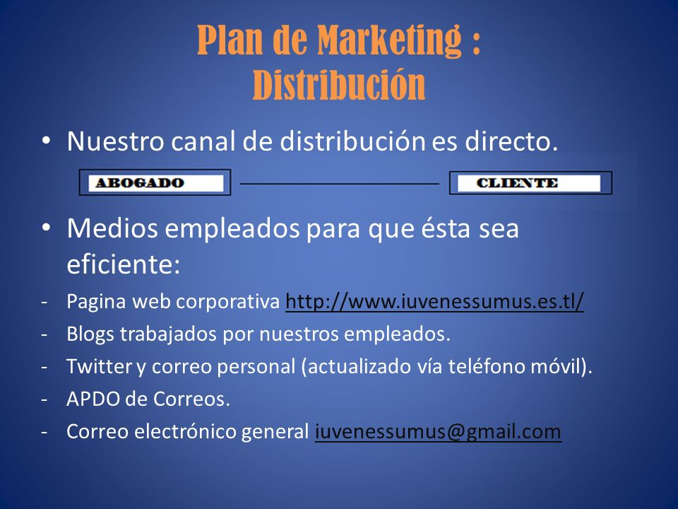 Plan de Marketing : Distribución