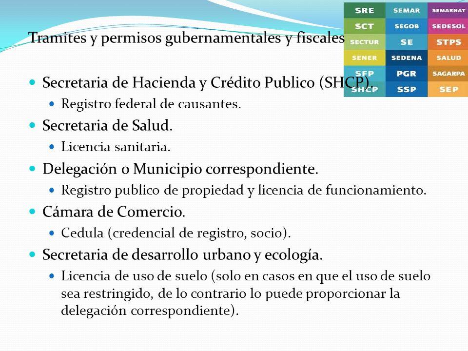 Tramites y permisos gubernamentales y fiscales
