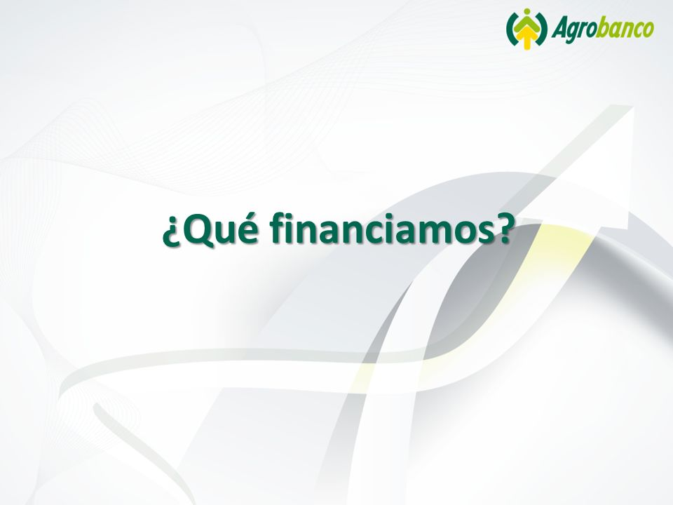 ¿Qué financiamos