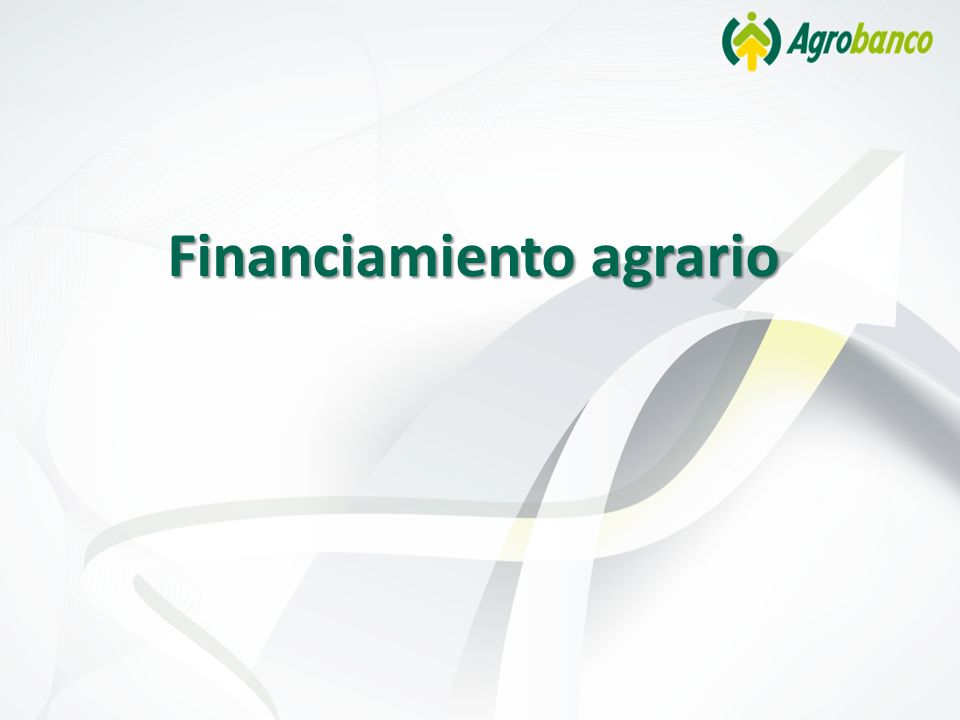 Financiamiento agrario