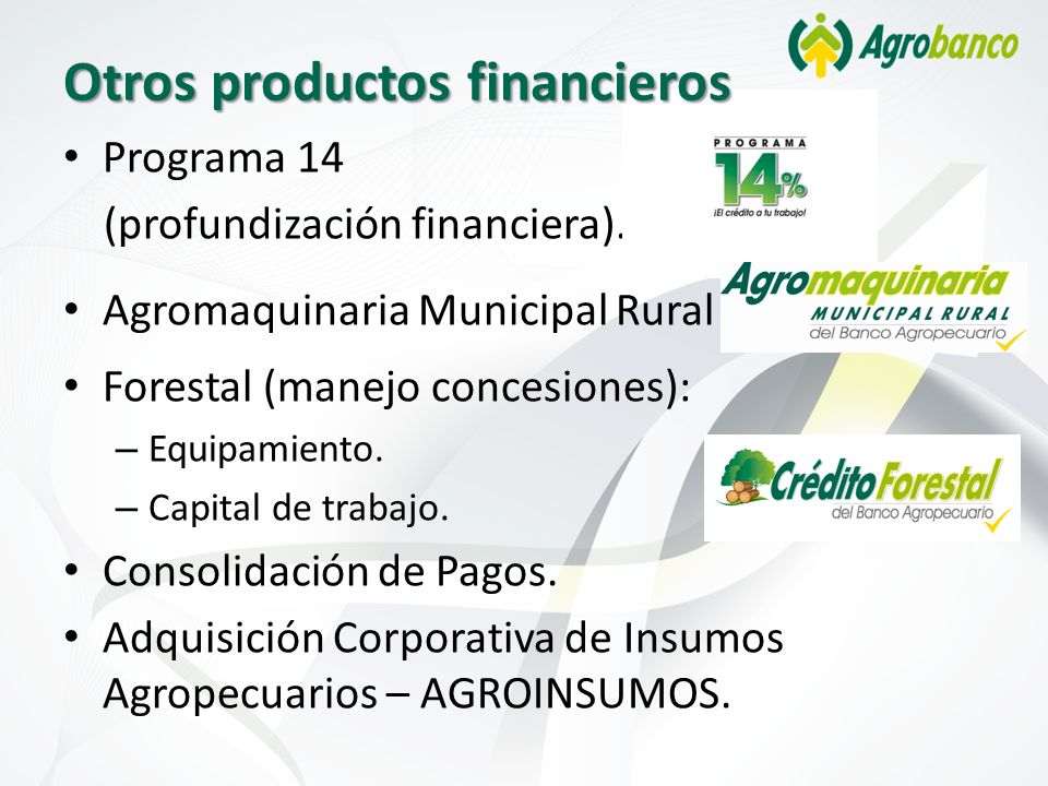 Otros productos financieros