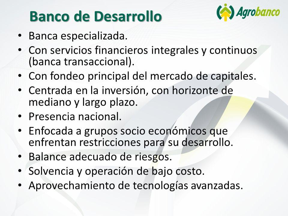 Banco de Desarrollo Banca especializada.