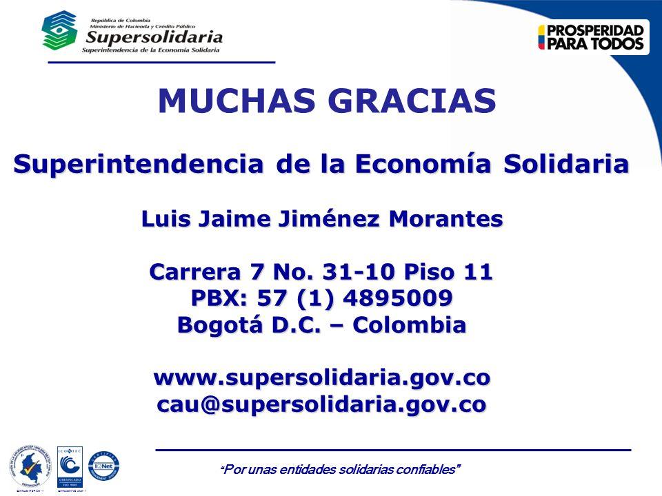 Superintendencia de la Economía Solidaria Luis Jaime Jiménez Morantes