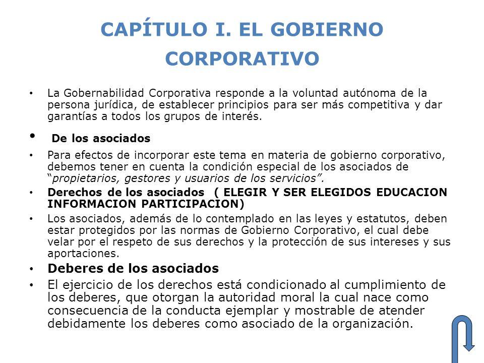 CAPÍTULO I. EL GOBIERNO CORPORATIVO