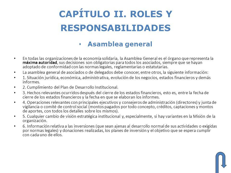 CAPÍTULO II. ROLES Y RESPONSABILIDADES