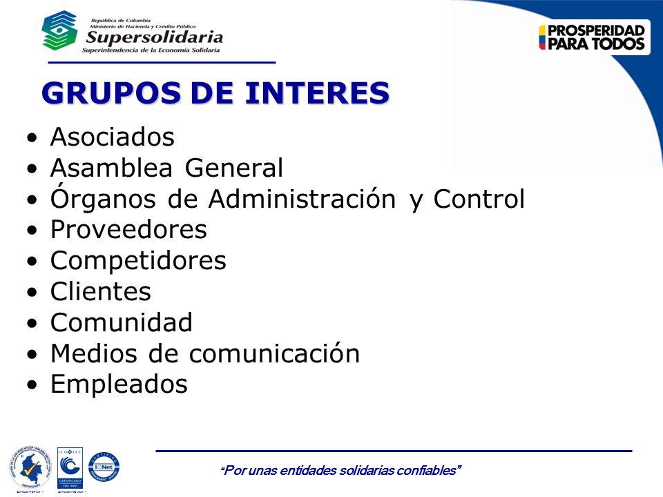 GRUPOS DE INTERES Asociados Asamblea General