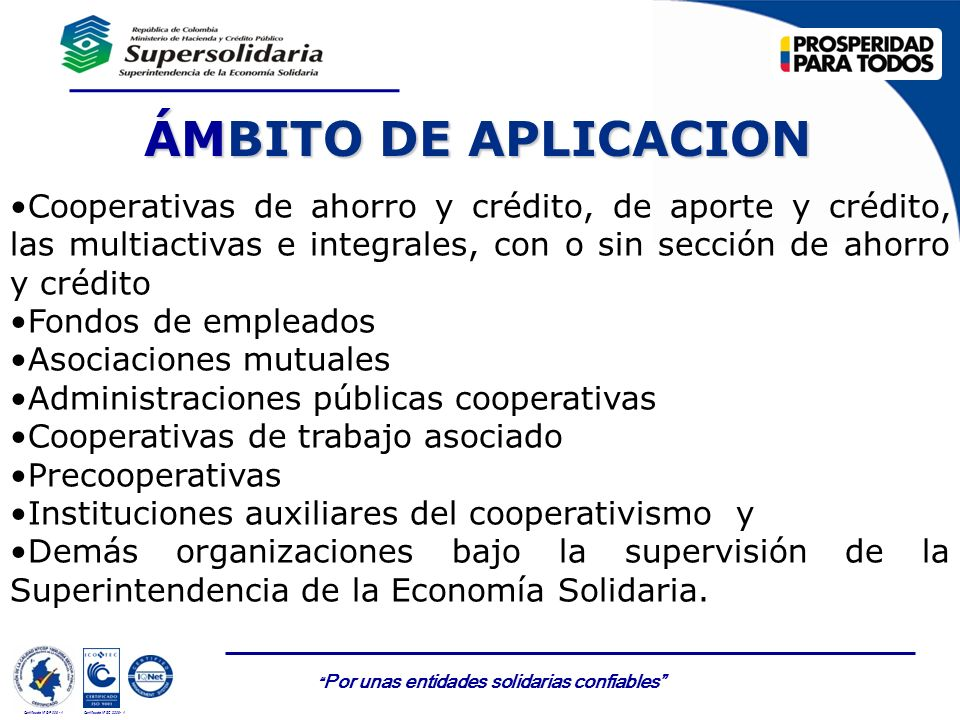 ÁMBITO DE APLICACION