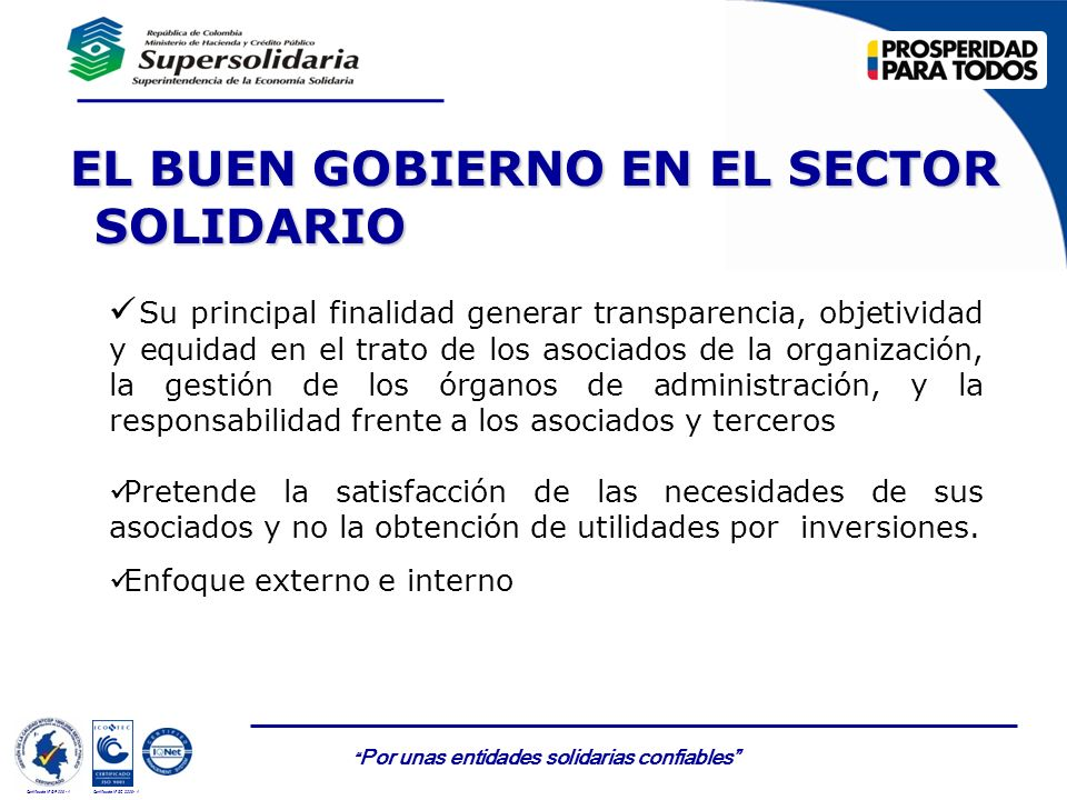 EL BUEN GOBIERNO EN EL SECTOR SOLIDARIO