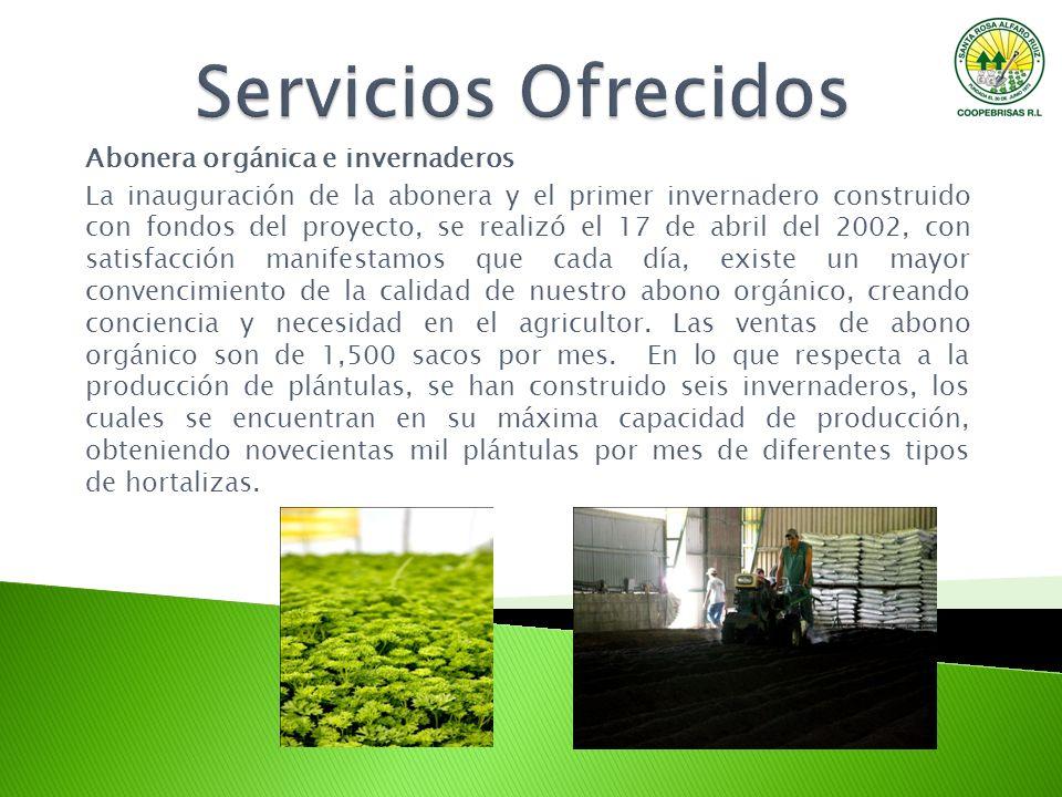 Servicios Ofrecidos Abonera orgánica e invernaderos