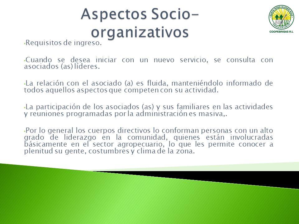 Aspectos Socio- organizativos