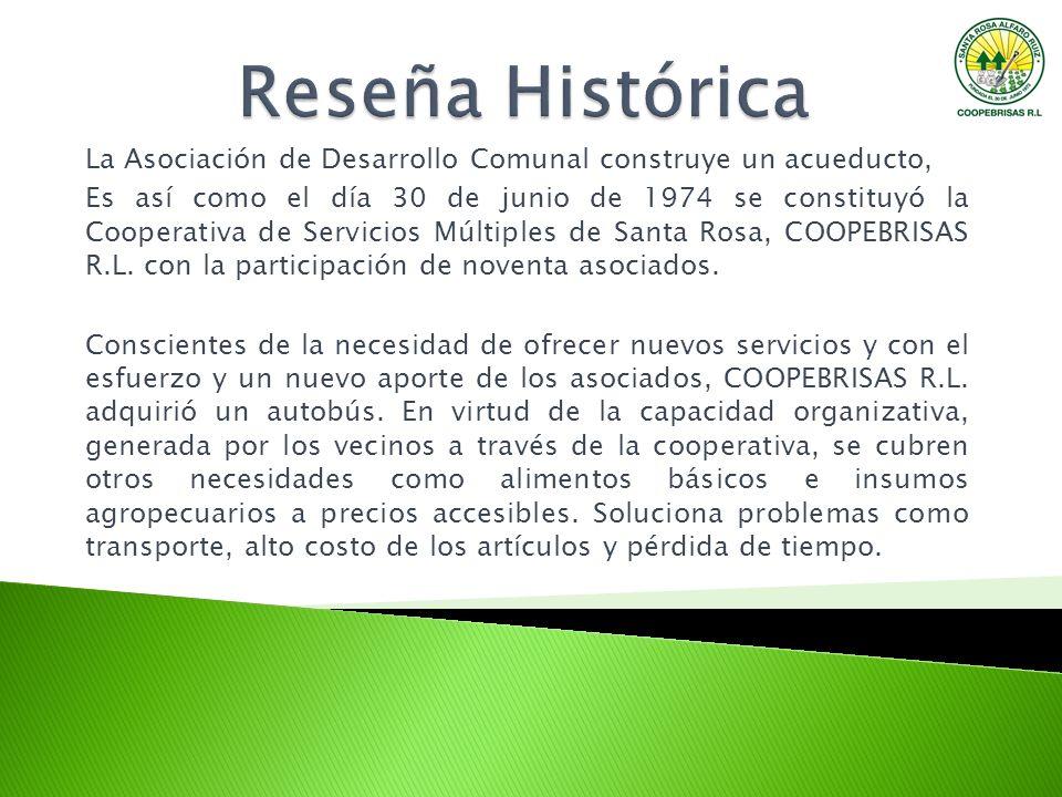 Reseña Histórica La Asociación de Desarrollo Comunal construye un acueducto,